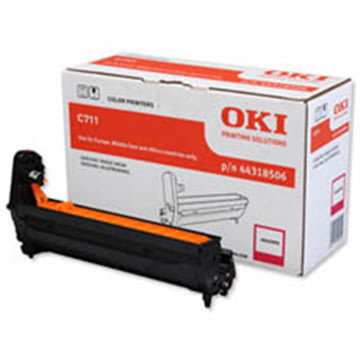 OKI 44318506 lasertromle, rød, 20000s