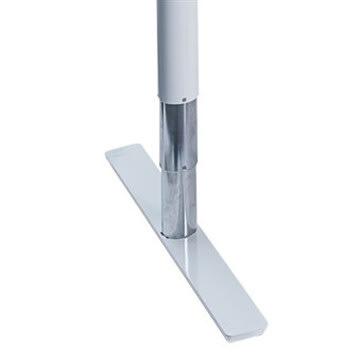 Flex hæve/sænkebord hvid/bøg 180 cm, venstrevendt