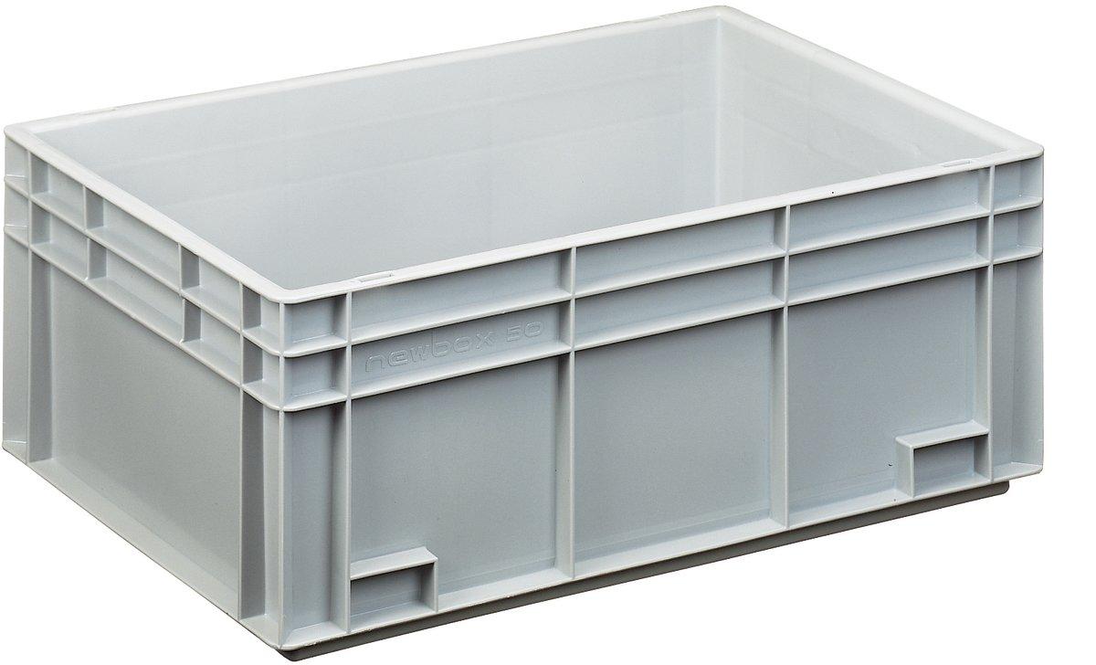 Lagerkasse 50 liter, Lukket håndtag, 60x40x23,6 cm