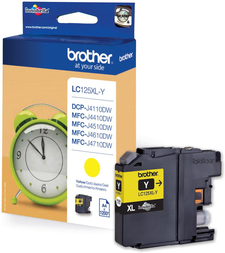 Brother LC125XLY blækpatron yellow 1200s.