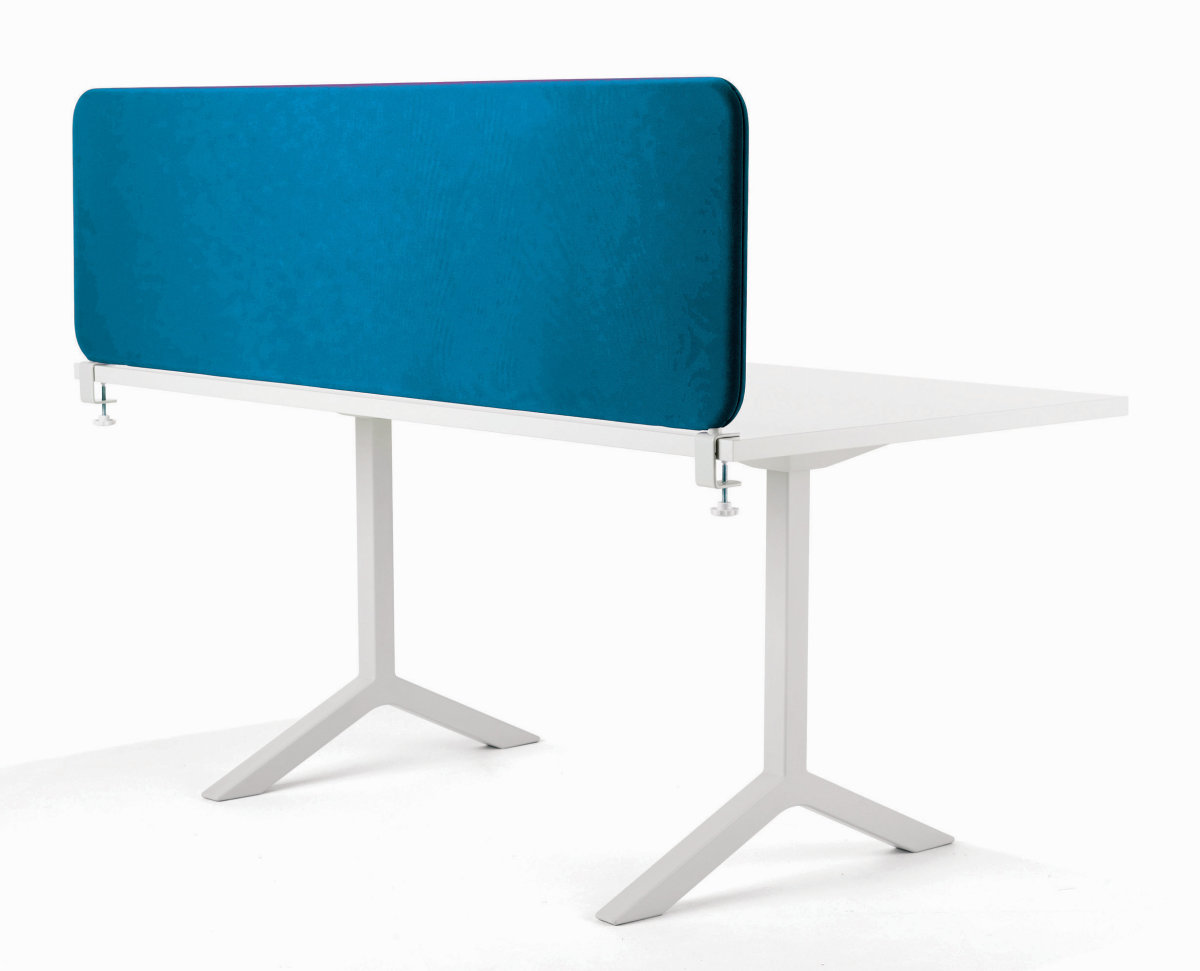 Softline bordskærmvæg blå B1000xH450 mm