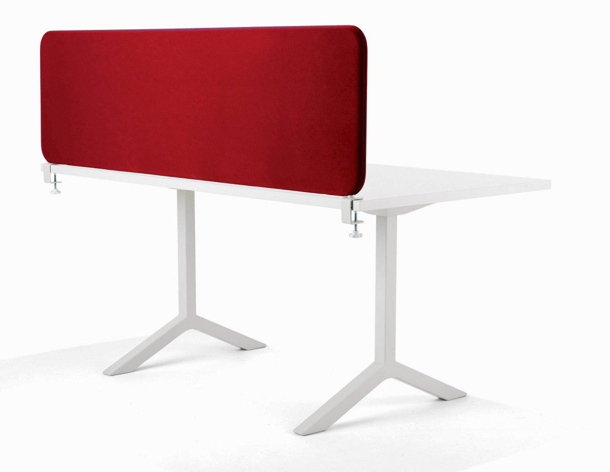 Softline bordskærmvæg rød B1400xH450 mm