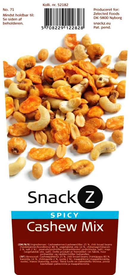 SnackZ dispenser m. cashew mix