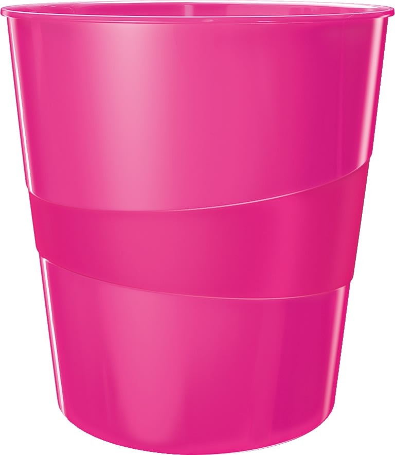 Leitz WOW papirkurv, pink