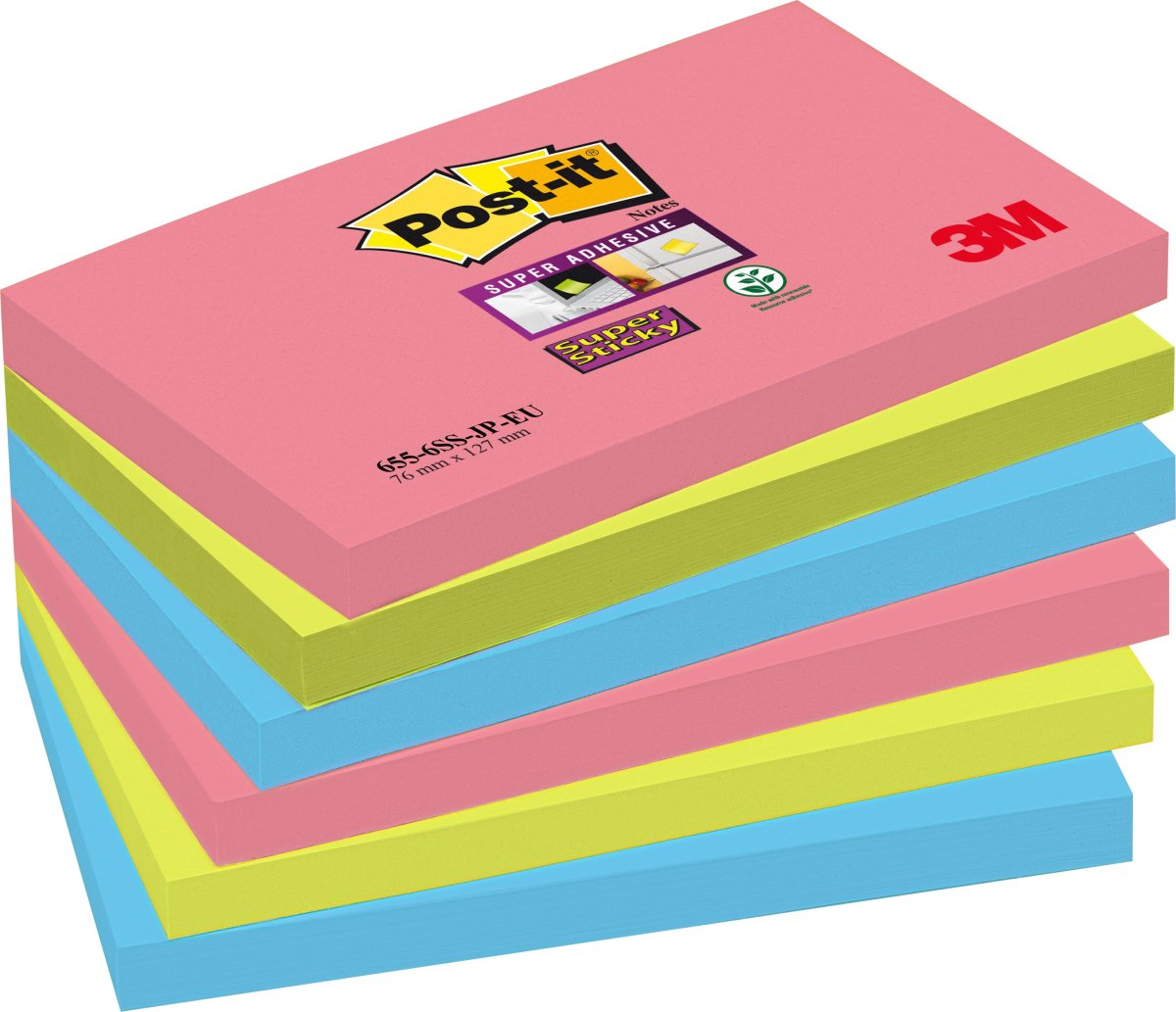Post-it Super Sticky Notes 76 x 127mm, Bora Bora