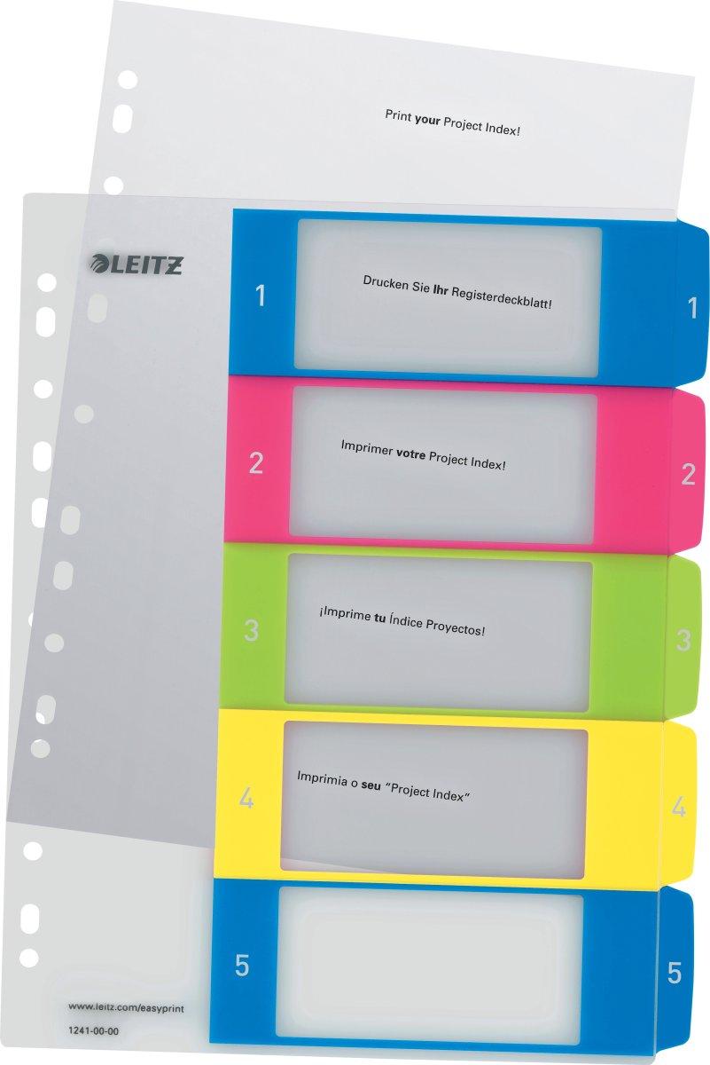 Leitz WOW Printbare registre, A4, 1-5