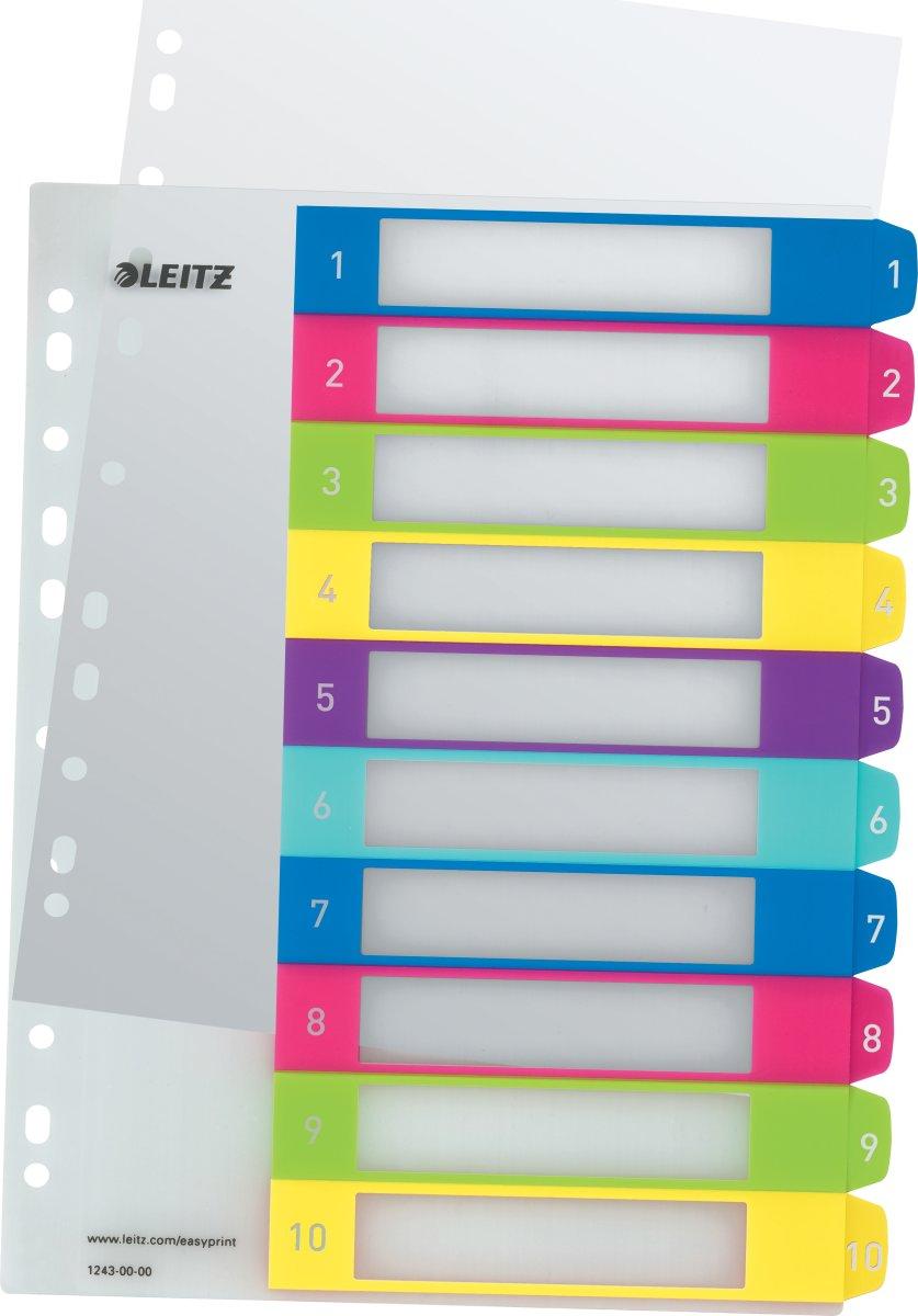 Leitz WOW Printbare registre, A4, 1-10