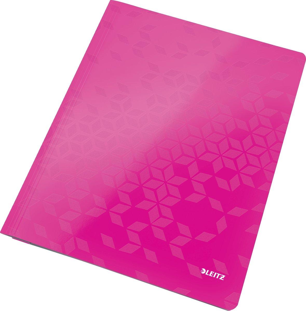 Leitz WOW Arbejdsmappe, pink metallic