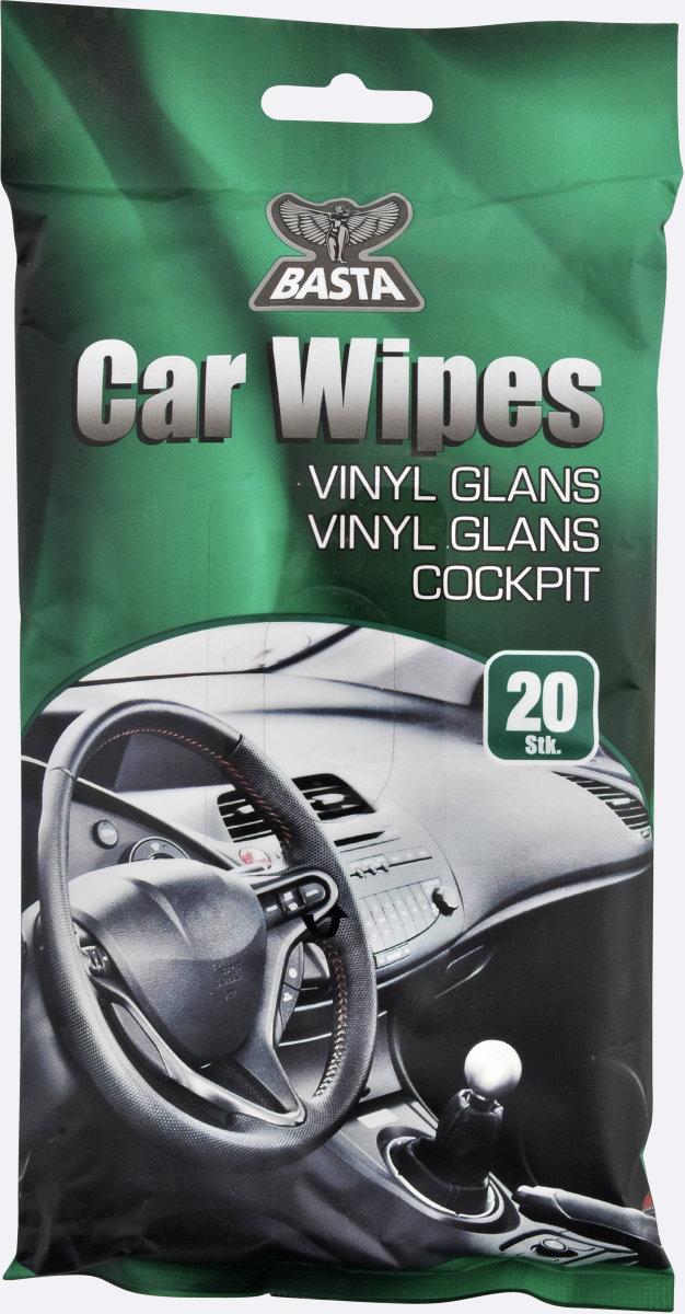 Basta vådservietter t/ vinyl, 20 stk.