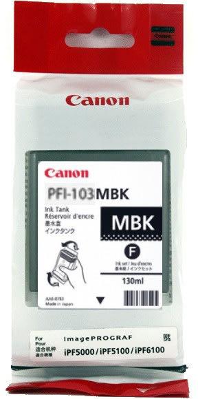 Canon PFI-103MBK blæktank, mat sort, 130ml
