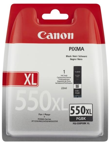 Canon PGI-550XL blækpatron, pigmenteret sort, 500s