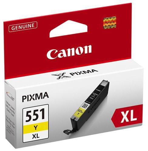 Canon CLI-551 Xl blæktank, gul, 11ml