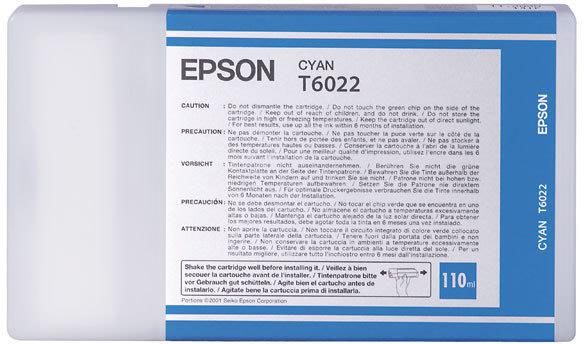 Epson C13T602200 blækpatron, blå, 110ml