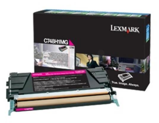 Lexmark C748H3MG lasertoner, rød, 10000s
