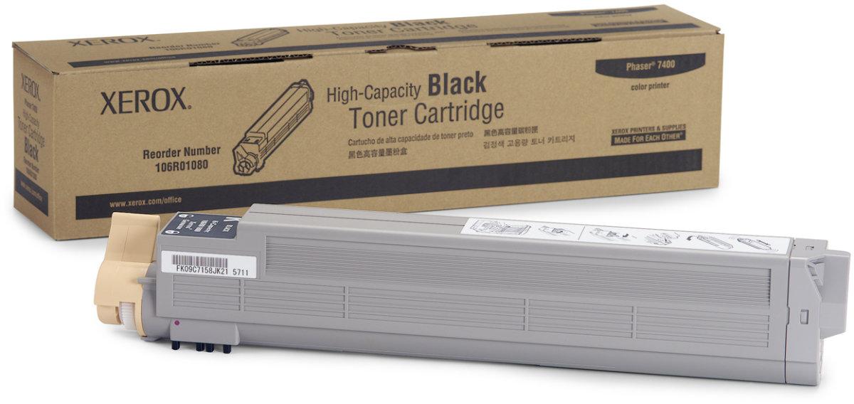 Xerox 106R01080 lasertoner, sort 15000s