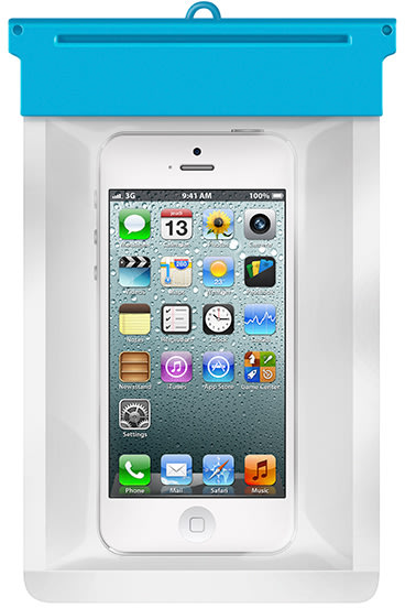 Vandtæt etui til mobiltelefoner