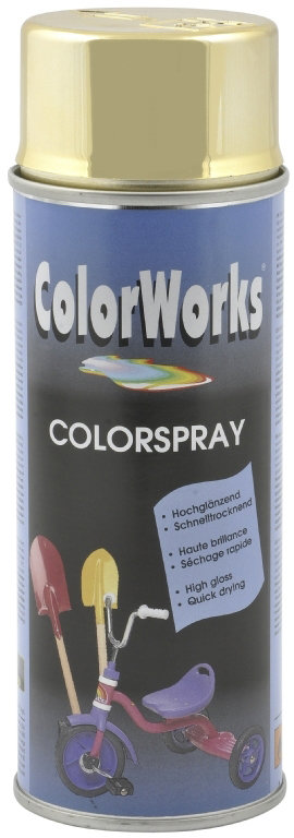 "ColorWorks hobbyspray, ""chrome"" guld"