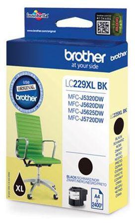 Brother LC229XLBK blækpatron, sort, 2400s