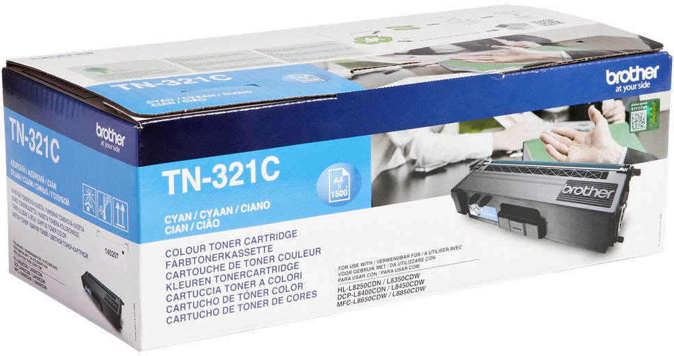 Brother TN321C Lasertoner, cyan, 1500 s.