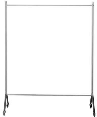 Rack 2 garderobestativ t/30 bøjler sort/sølvfarvet