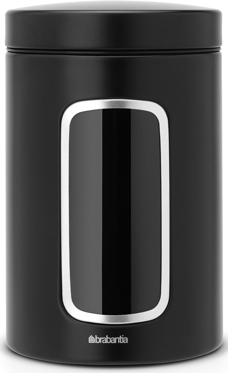 Kæmpestor Brabantia Opbevaringsdåse 1,4L, matt black - Lomax A/S ST89