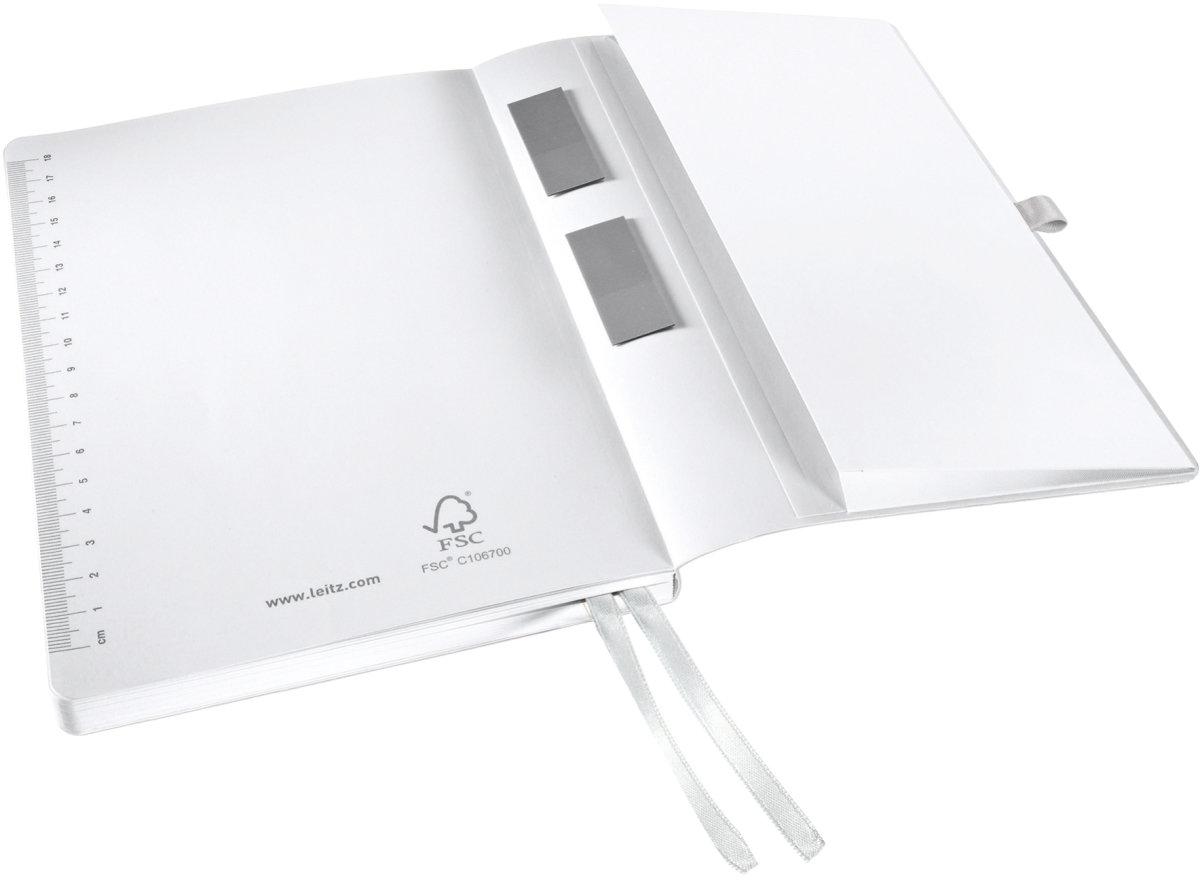 Leitz Style Notesbog A5, kvadreret, hvid