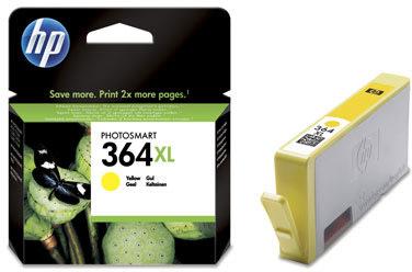 HP nr.364XL/CB325EE blækpatron, gul, 750s