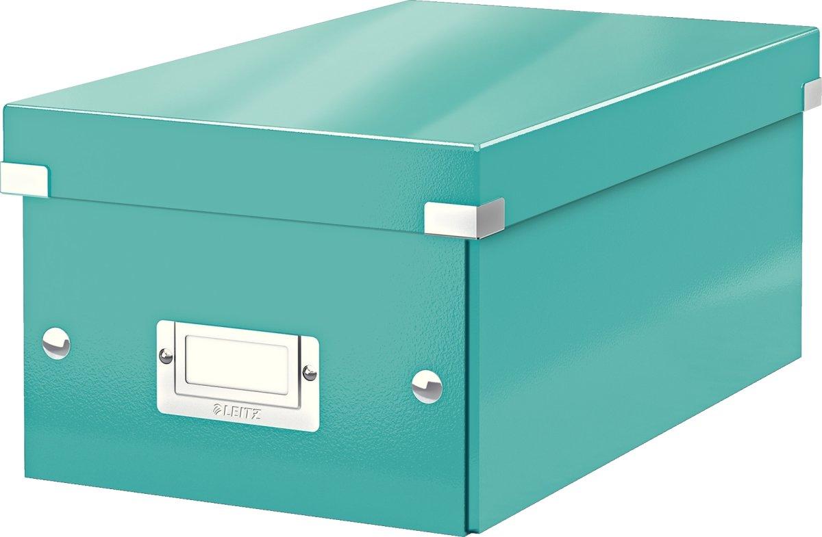 Leitz WOW Click & Store DVD-boks, isblå