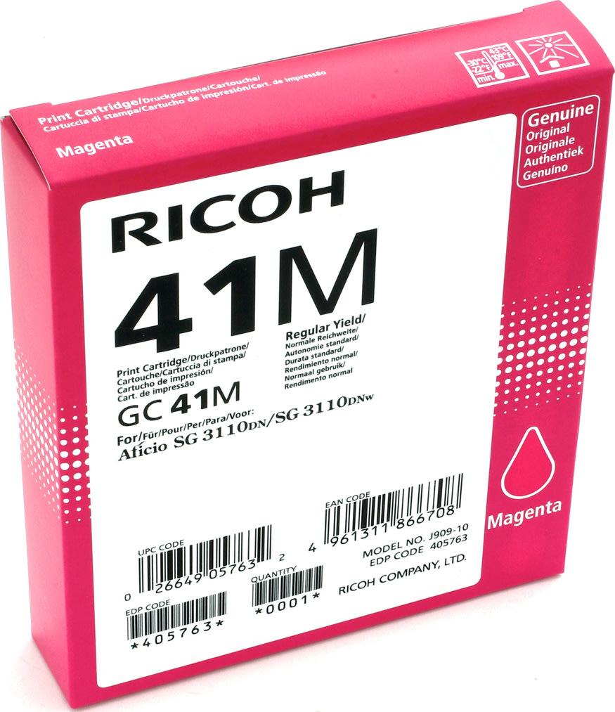 Ricoh 41M/405763 blækpatron, magenta, 2200 s.