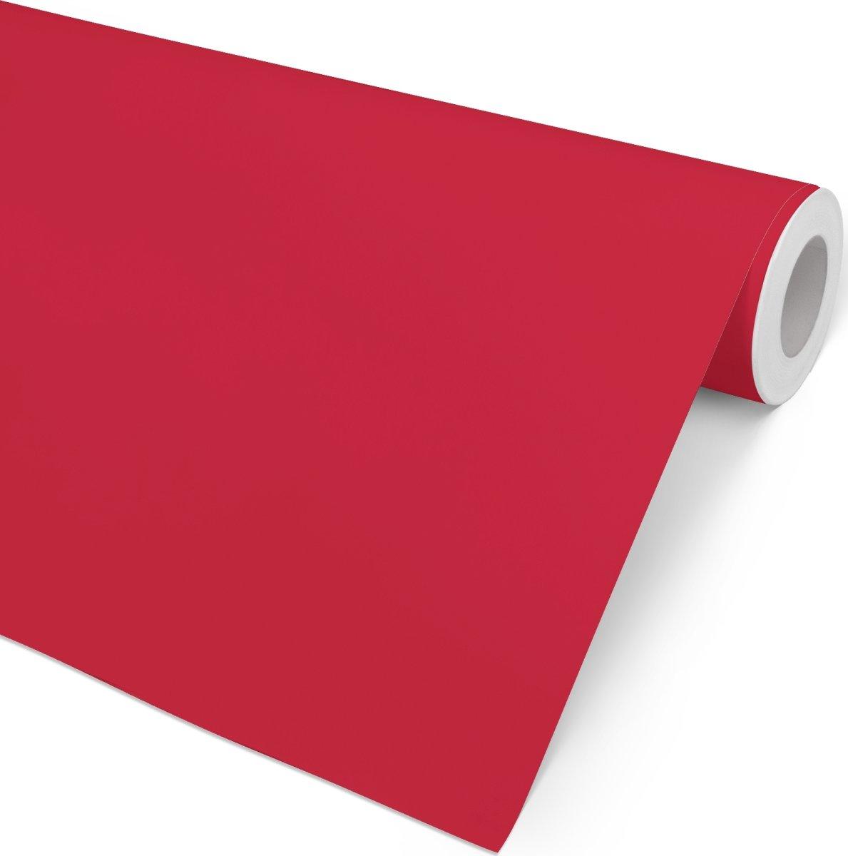 Gavepapir Ensfarvet Rød, 57 cm x 154 m