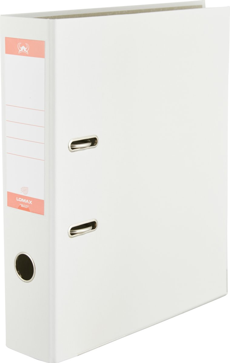 Lomax brevordner A4, 75mm, hvid
