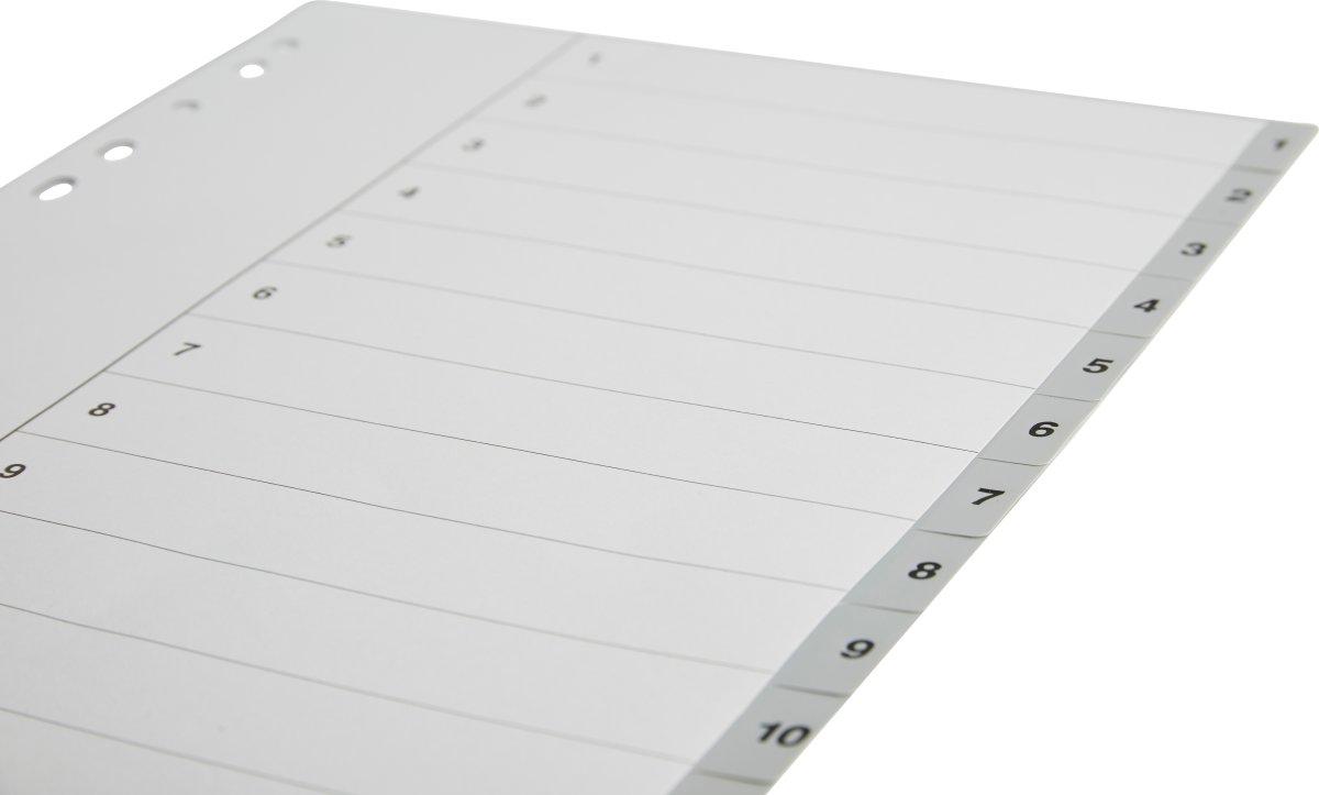 Budget registre A4, 1-12, plast