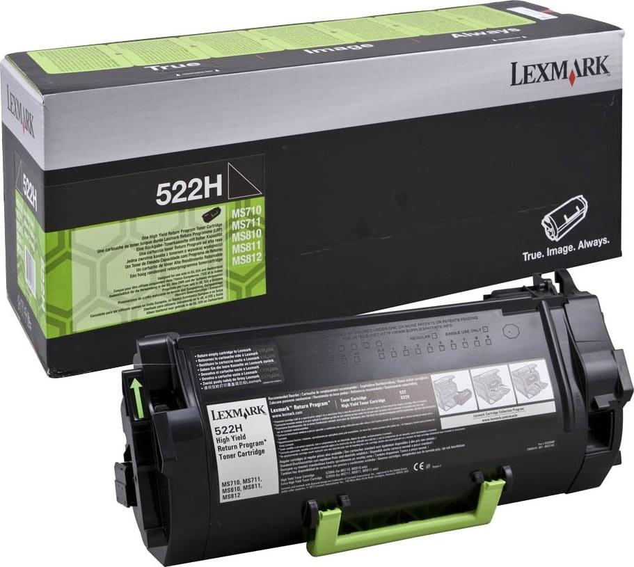Lexmark LEX52D2H00 522H, 25000 sider, sort