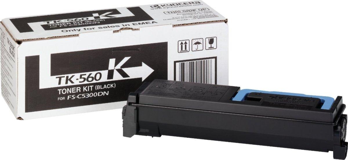 Kyocera TK-560K lasertoner, sort, 12000s