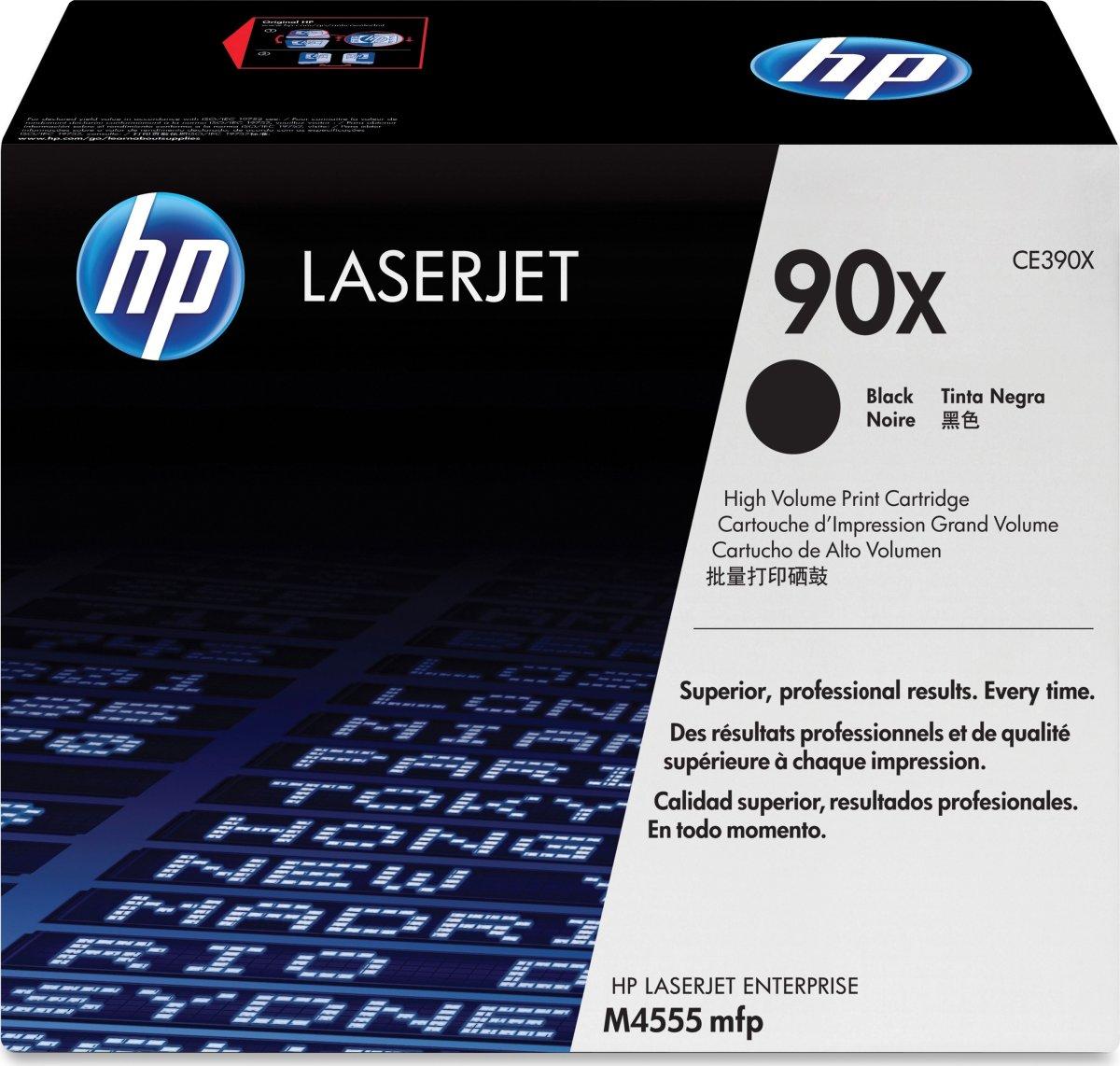 HP nr.90X/CE390X lasertoner, sort, 24000s