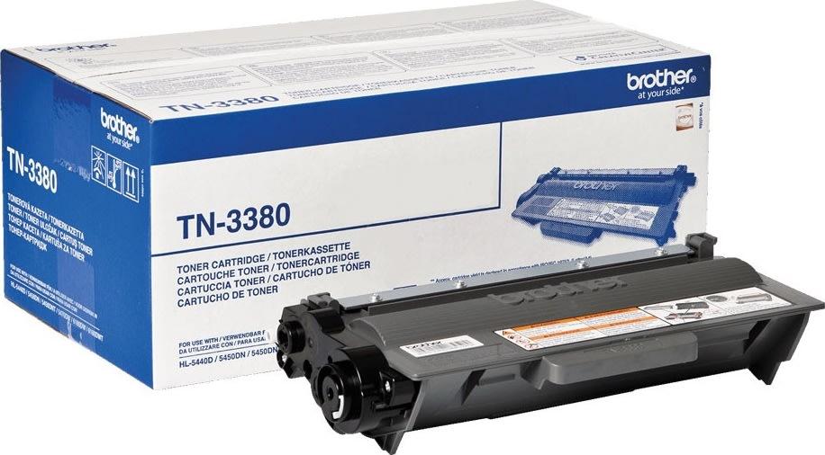 Brother lasertoner TN3380 8000 sider sort