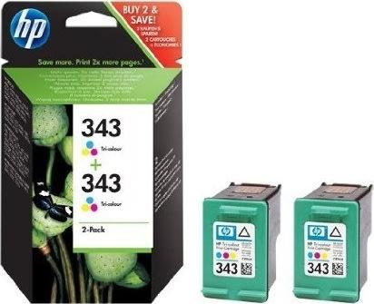 HP nr.343/CB332EE blækpatron, 3-farvet, 2stk