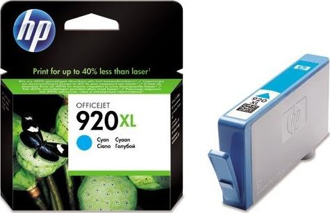 HP nr.920XL/CD972AE blækpatron, blå, 700s