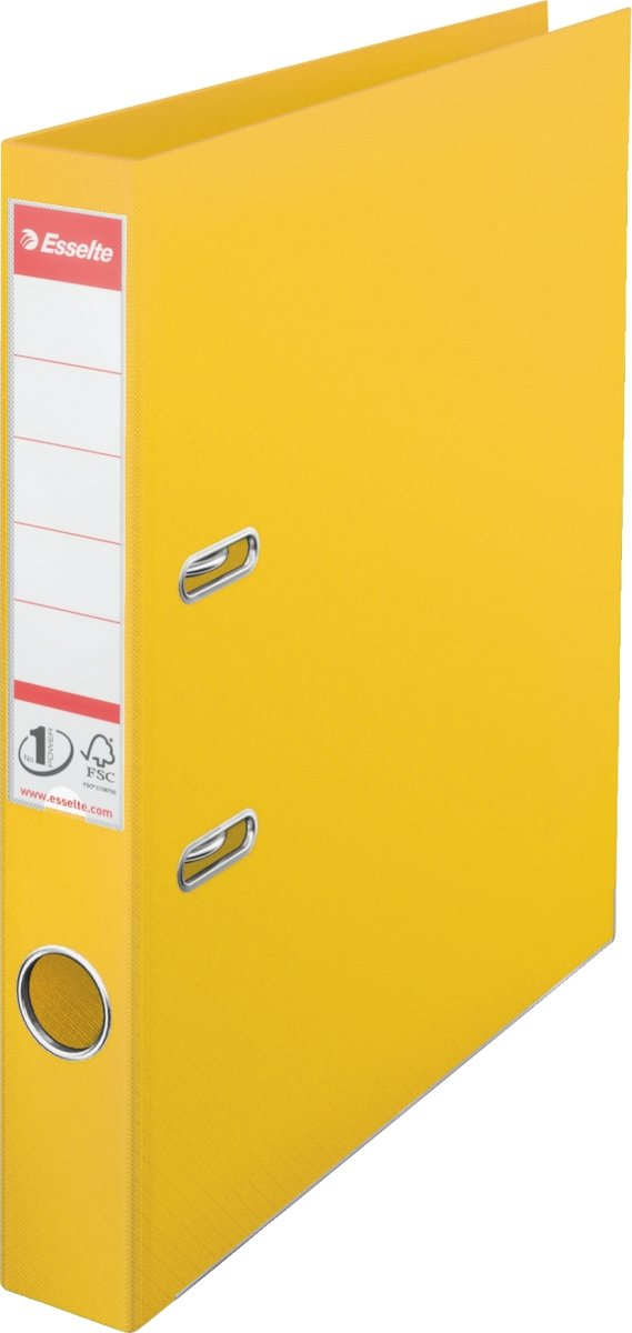 Esselte No.1 brevordner A4, 50mm, gul