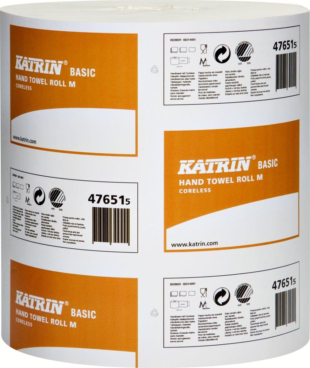 Katrin Basic M centerfeedrulle, 1-lags, 6 stk