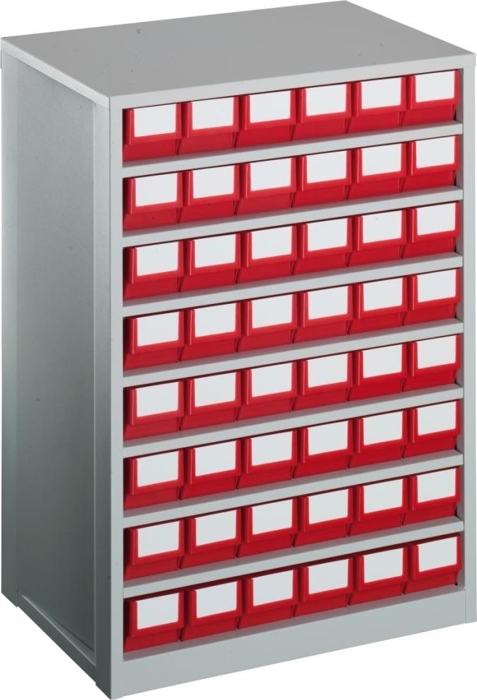 Lagermag XL inkl 48 x systemkas 3 (400x91x81),blå