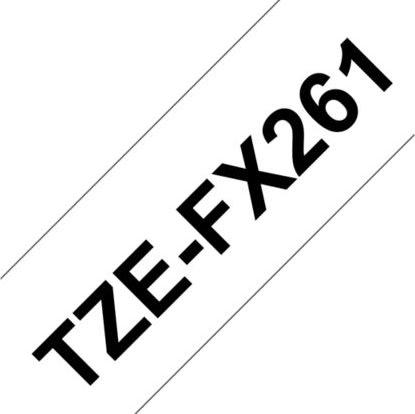 Brother TZe-FX261 labeltape 36mm, sort på hvid