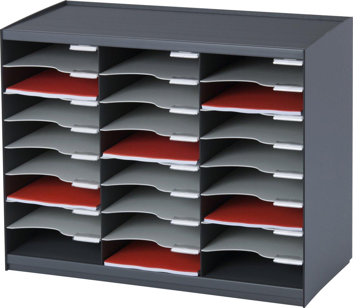 Paperflow Bakkesystem m. 24 rum, mørk grå