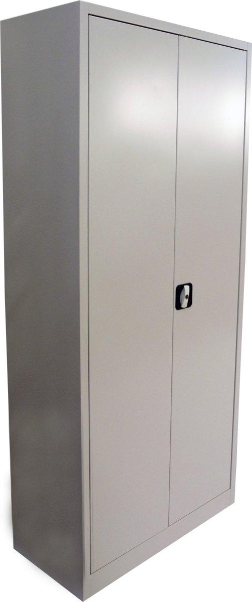 Værkstedsskab, 4 hylder, (BxDxH) 80x38x180cm, grå