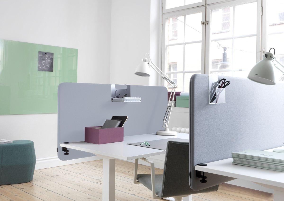 Softline Light bordskærmvæg 140x65 cm Lys grå