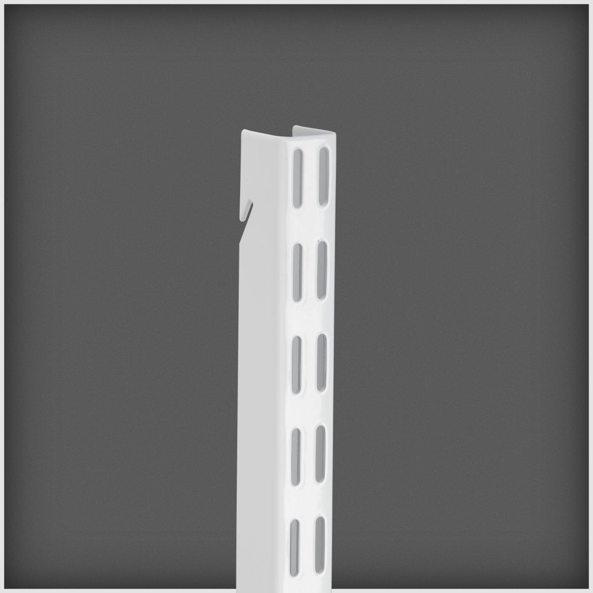 Elfa hængeskinne, længde 2140 mm, hvid