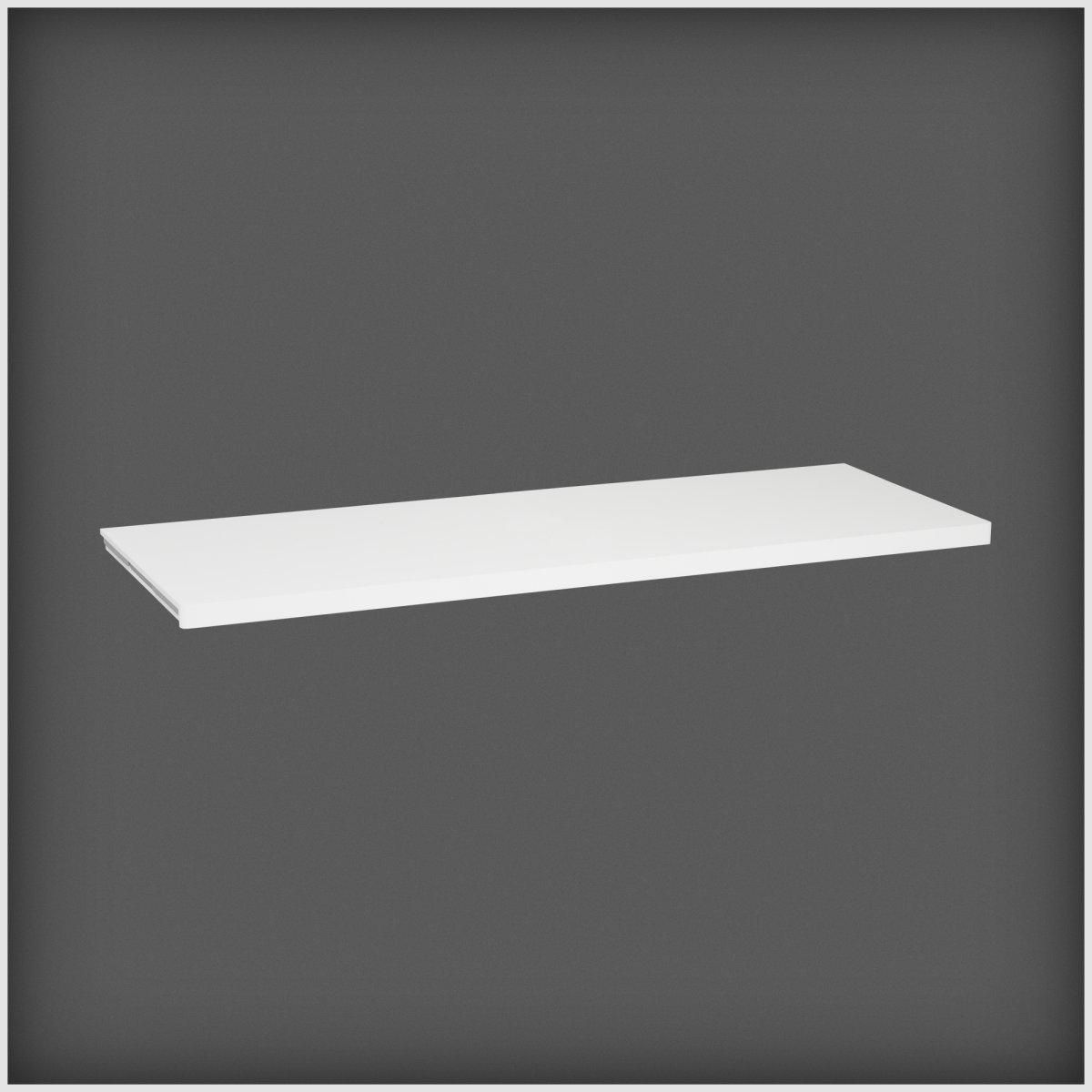 Elfa Décor hylde 40, længde 1212 mm, hvid