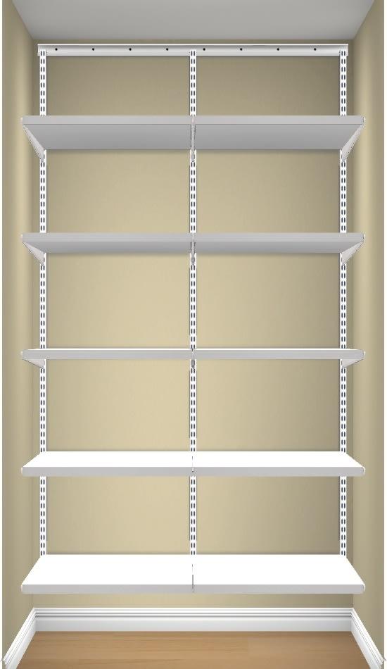 Elfa Classic sæt, 2 sektioner, Décor 50, Hvid