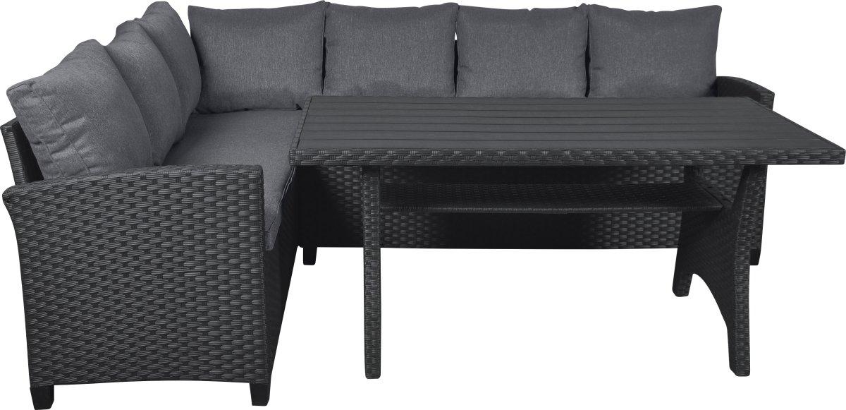 Ester havemøbelsæt inkl. hynder i sort