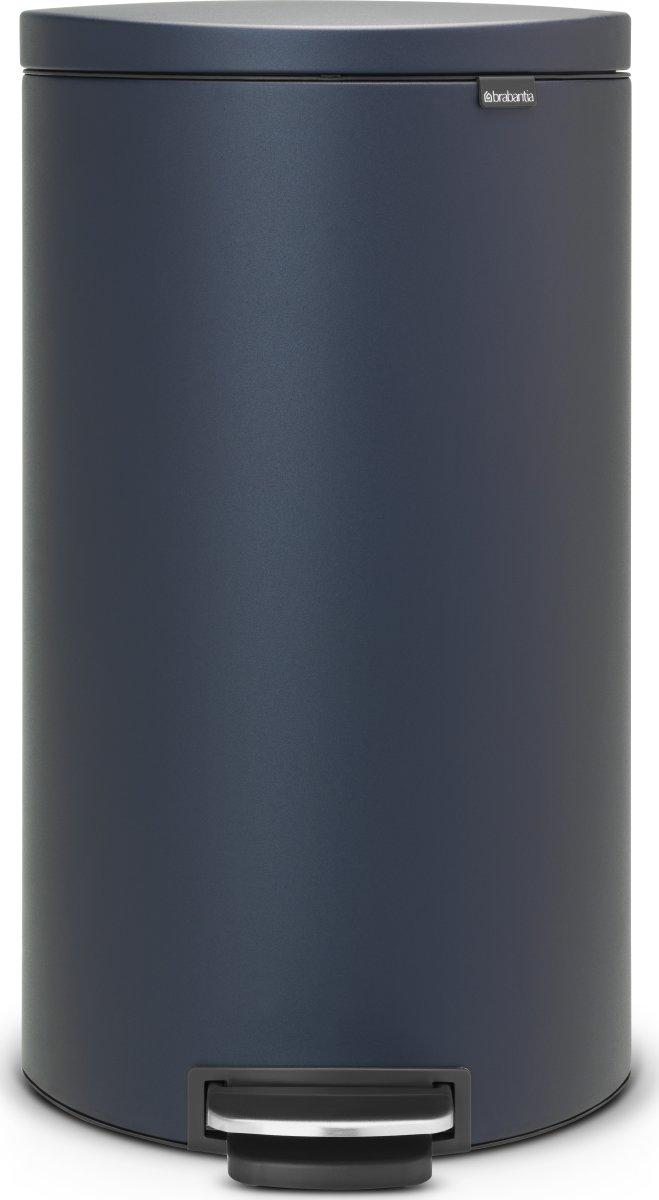 Brabantia Flatback Pedalspand 30 liter, blå